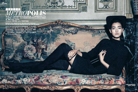 Darkly Luxe Fashion - The Prestige Singapore October 2013 Photoshoot Stars Lina Zhang