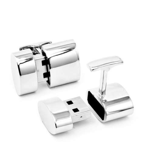 Tech-Inspired Cufflinks - These WiFi and 2GB USB Cufflinks are Elegant and Practical