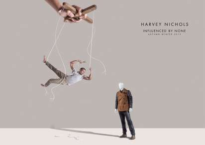 Marionette-Escaping Fashion Ads - The Harvey Nichols Influenced by None Campaign is Liberating