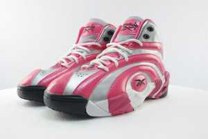 The Pink GS Reebok Shaqnosis are Exclusively for the Ladies