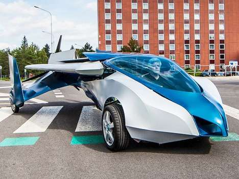Futuristic Slovakian Flying Cars - The Aeromobil Hits 99 Mph on the Ground and 124 Mph in the Air