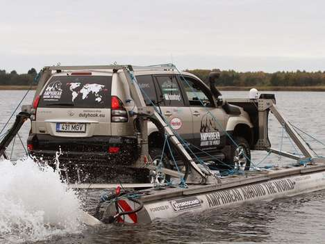 Amphibious SUV World Crossings - The Amphibear is Set to Travel 37,000 Miles in Nine Months