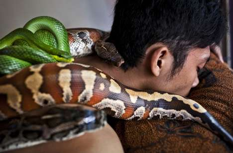 Indonesian Snake Spas - The Bali Heritage Spa Offers a Unique Massage Treatment Involving Pythons