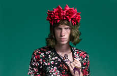 Bohemian Rocker Portraits - The Grunge Male Model Scene Exclusive is Revives 90s Themed Fashions