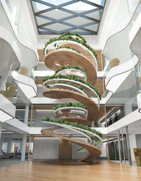 Edible Staircase Designs - The Living Staircase from Paul Cocksedge is Stocked with Herbs