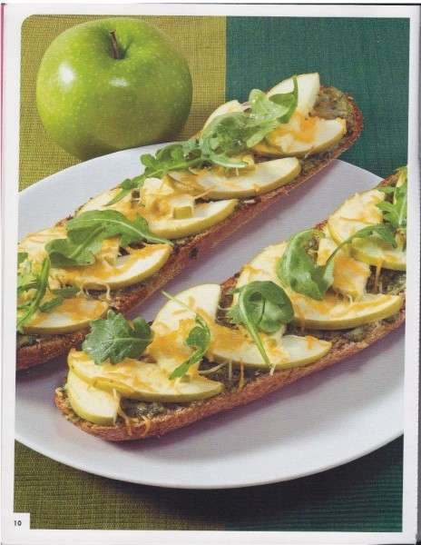 Meatless Fruit-Topped Pizzas - Serve Your Guests a Sweet and Healthy Appetizer with Apple Pizza