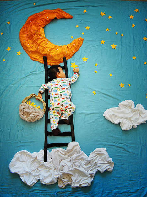 Adventurous Slumbering Baby Pics - Queenie Liao Captures her Son in Different Dreamlike Scenarios