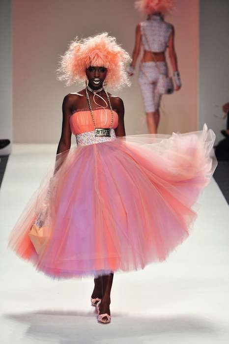Kitschy Celebratory Designer Lines - The Betsey Johnson SS 2014 Collection is Retro-Futuristic