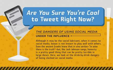 Impaired Tweeter Infographics - This Graphic Shares the Perils of Drinking and Tweeting