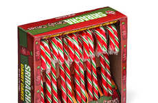 Fiery Hot Holiday Candies - These Spicy Candy Canes Were Inspired by Sriracha Hot Sauce