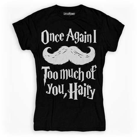 Punny Potter Tees - This Graphic Harry Potter T-Shirt Incorporates a Mustache into a Famous Quote