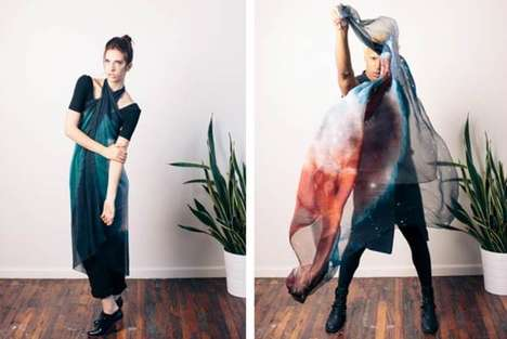 Scientifically Cosmic Fashion - The Slow Factory 2014 Collection is Inspired by Satellite Images