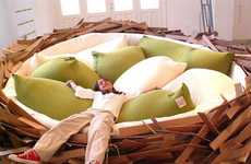 Avian Lifestyle Furniture - Embrace a Nature-Inspired Atmosphere in Your Home with the Bird Nest Bed