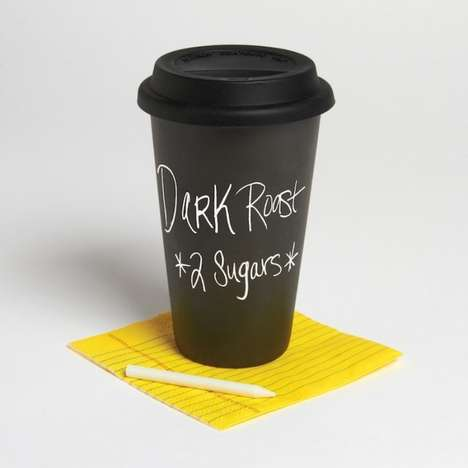 Defiantly Eco Chalkboard Mugs - These Travel Mugs are Definitely Not of the Paper Variety