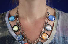 Dazzling Planetary Jewelry - This Piece of Solar System Jewelry Still Includes Pluto in the Clasp