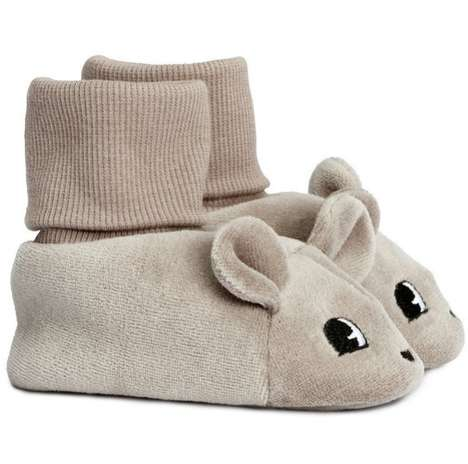 Cute Critter Feet Snugglers - These Mouse Slippers by H&M Baby are Soft and Warm