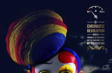 Circus-Themed Cosmetic Captures - The Chromatic Revolution Image Series by Puranjoy is Dynamic