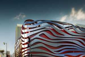 The Design of the Petersen Automotive Museum Resembles Zebra Stripes