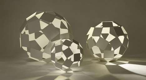 Doubly Geometric Lighting - Dancing Squares Lamps by Nendo are Delicately Sculptural