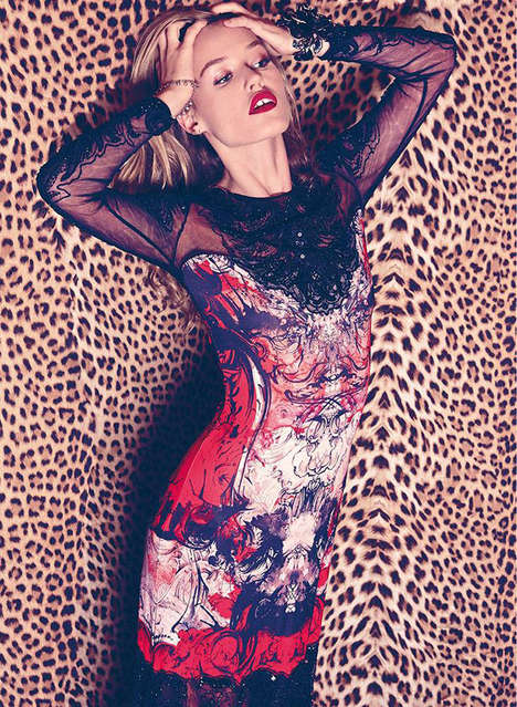 Sultry Animal Print Editorials - The Harper