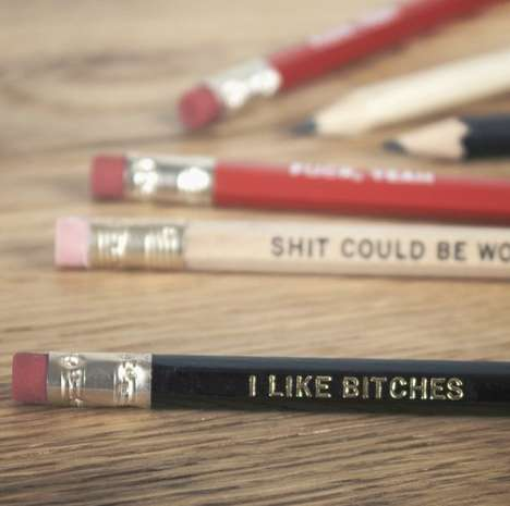 Coarse Language Pencils - These Comical Swearing Pencil Designs Hope to Encourage You to Write