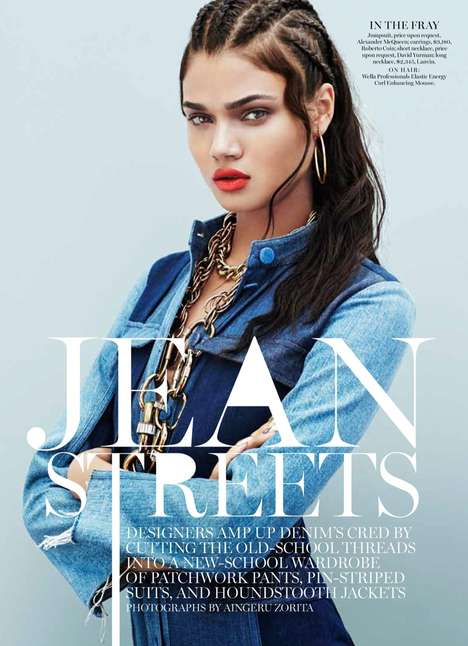 Urban Denim Editorials - The Marie Claire US