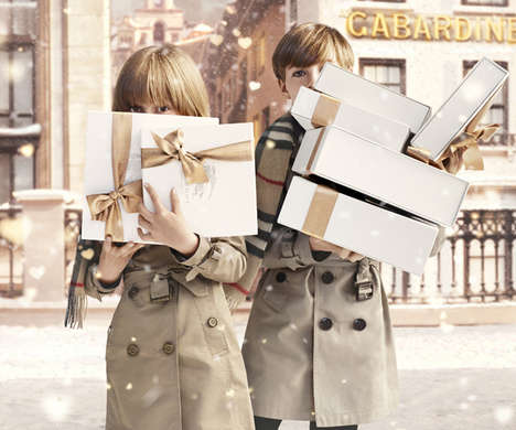 Couture Christmas Campaigns - Burberry With Love Christmas 2013 Captures the Season