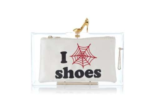 Transparent Customizable Purses - This Charlotte Olympia Clutch Comes with Three Pretty Inserts