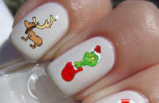 Nostalgic Christmas Story Manicures - Relive Your Childhood This Christmas with Grinch Nail Decals