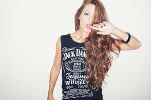Glorya Occhipinti Gets Sassy in Her Whiskey T-Shirt