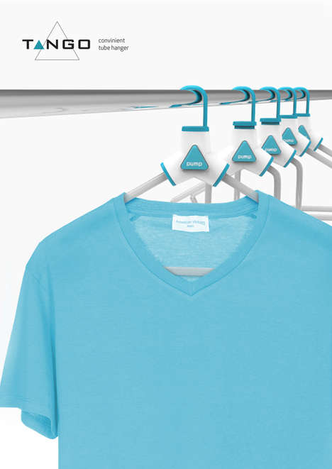 Inflatable Clothes Hangers - The Flexible Tango Coat Hanger Keeps Shirts