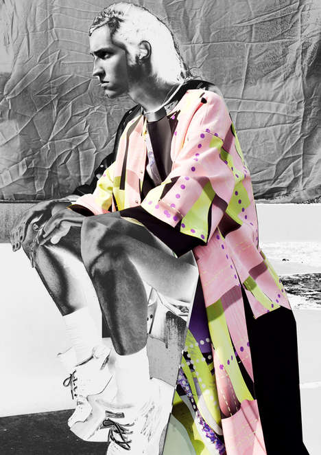Conceptual Urbanwear Editorials - The Intervention on Paradise Fashion Story is Artfully Conceived
