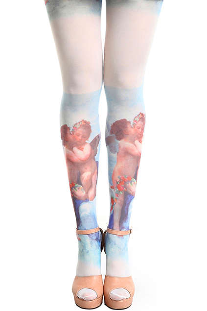 Heavenly Hosiery Accessories - These Angels Tights from Online Retailer ROMWE are Baroque-Inspired