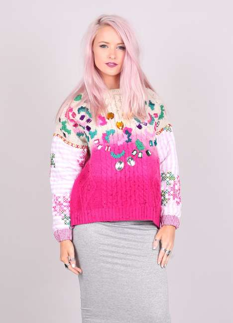 Upcycled Statement Knitwear - This Vintage Reworked Jumper by Jade Naomi Wainwright is Granny-Chic