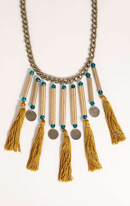 Tribal Tassel Accessories - The Milanna Necklace from Planet Blue is Hand-Crafted