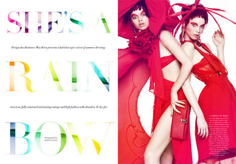 Colorful Anime-Like Editorials - The Harper's Bazaar Australia December 2013 Photoshoot is Pla