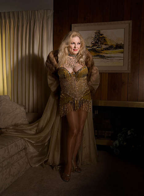 Aging Stripteaser Photography - The Legends of Burlesque by Stephanie Diani is Liberating