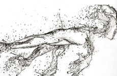 Realistic Liquid Drawings