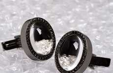 Floating Diamond Cufflinks