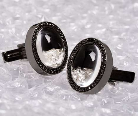 Floating Diamond Cufflinks - These Diamond Cufflinks are a Man
