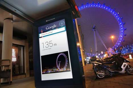Gigantic Outdoor Search Engines - The 'Google Outside' Display Screen Helps Tourists Fin