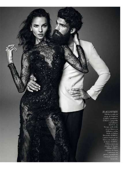 Spirited Hipster Wedding Editorials - The Vogue Spain Brides 2013 Issue is Romantically Bohemian