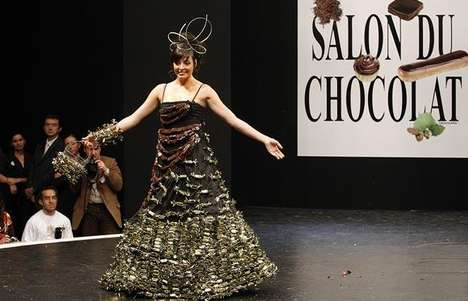Chocolate Dress Designs - La Maison du Chocolat Puts on a Delicious Fashion Show in Paris
