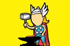 Hardworking Superhero Drawings
