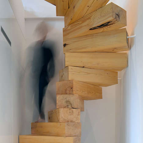 Wooden Block Staircase