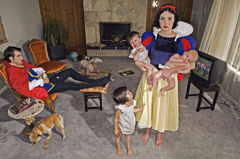 Depressing Disney Princess Photography