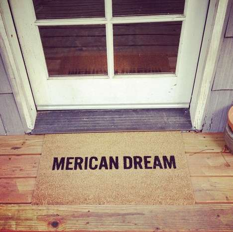 Partiotic Doormat Decor - This Novelty Doormat Celebrates America's Nationalist Spirit