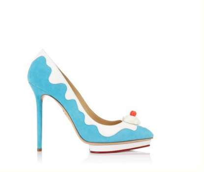 Sweet Sundae Pumps - The Sundae High Heels from Charlotte Olympia May Have You Craving Ice Cream