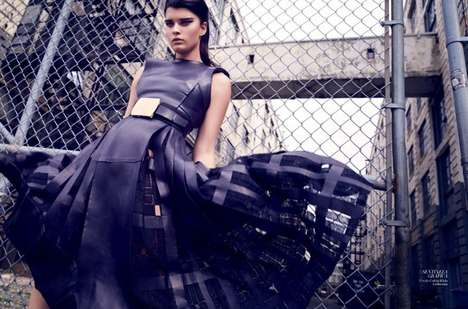 Upscale Urban Couture - This Harper's Bazaar Editorial Features Sleek Formal Fashion