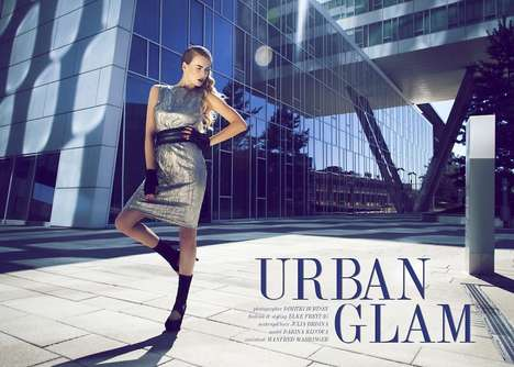 Shimmering Edgy Fashion - Urban Glam by Dimitri Burtsev Stars Model Darina Klucova